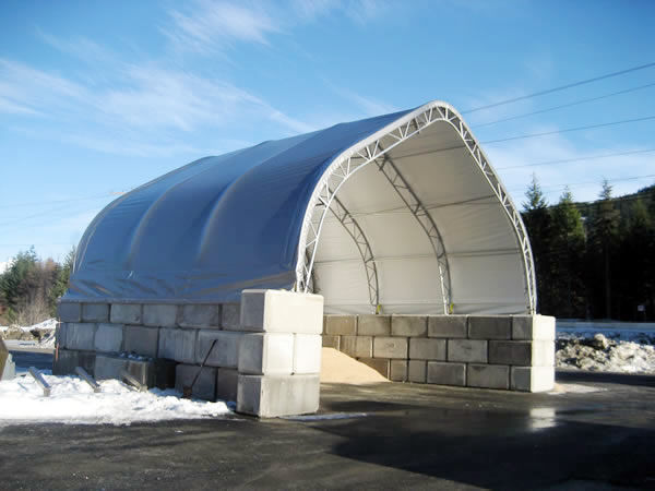 Cover star structures ltd portable fabric structures for Salt shed design
